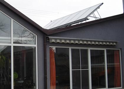 Solární systém TWI pro ohřev vody a bazénu v Albrechticích