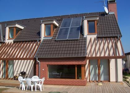 Solární systémTWI pro ohřev TUV realizovaný firmou KONEX