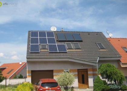 Fotovoltaická elektrárna VOLTA HYB na rodinném domě v Senici na Slovensku