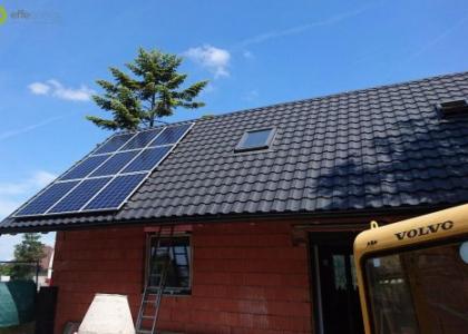 Fotovoltaická elektrárna s přebytky energie do ohřevu vody