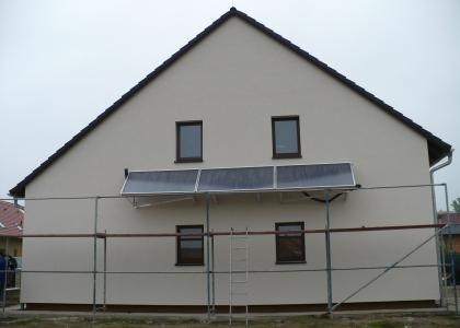 Solární kolektory TWI Sun Wing T4 - atypická instalace.