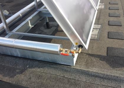 Ukázka z realizace instalace solárního systému na bytovém domě