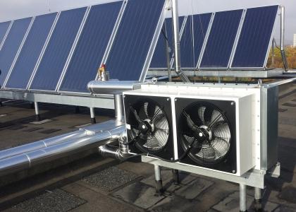 Solární systém TWI pro ohřev teplé vody Ostrava, Krajský úřad