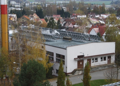 Solární systém TWI pro ohřev TUV v nemocnici JIndřichův Hradec.